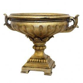 Silver Deco Pedestal Bowl