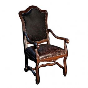 Peru Leather Hide Arm Chair