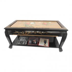 Black Lacquer Oriental Coffee Table