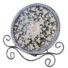 Pewter Garden Charger