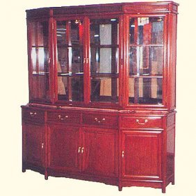 72 China Cabinet With Slant Front Design.