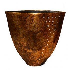 Modern Crystal Vase - Gold