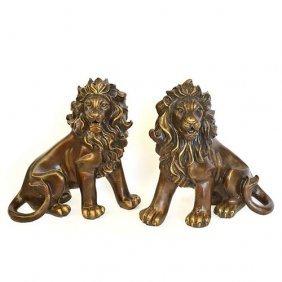 Burnished Lion - Set Of 2