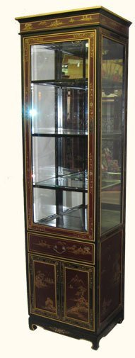 """Oriental Curio Hand Painted 24"""" Wide"""