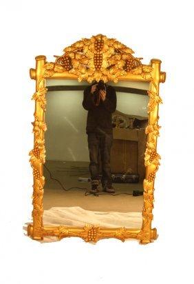 Grape Carved Gold Leaf Mirror