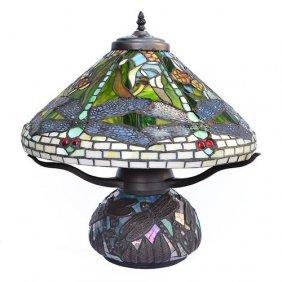 Dragonfly Mosaic Lamp