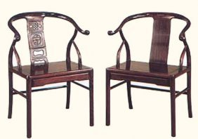Rosewood Asian Chair With Or Without Carved Dragon