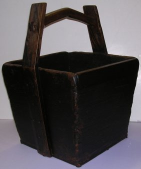 Chinese Antique Rice Box With Handles