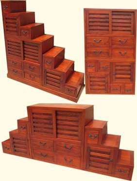Double Sided, Asian Modular Step Tansu