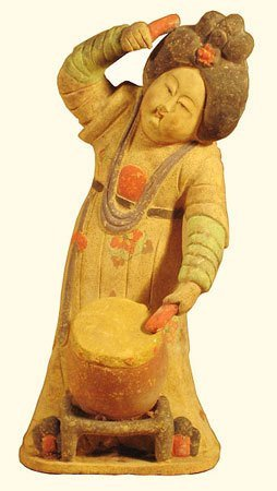 Chinese Statue Lady Drummer