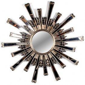 Silvered Sunburst Mirror