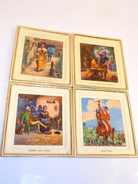 Newhall Pottery Scenic Plaques Set Of 4 Newhall Hanley