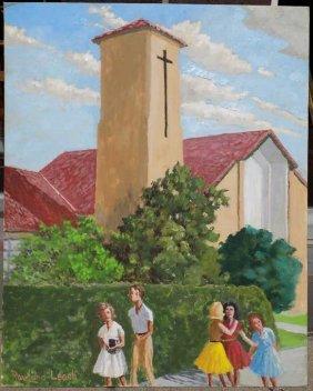 Rowland Leach - Salpointe Painting Rowland E. Leach
