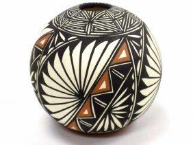 Antonio - Acoma Eagle Feather Pottery Vase D. Antonio -