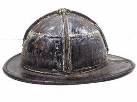 Antique Cairns Leather Firemans Helmet Antique Cairns &