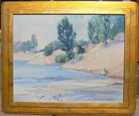Trenchard Lockhart - Impressionist Cove Painting Glada