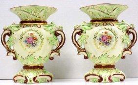 Pair Wedgwood Gilt Urn Vases Pair Of Wedgwood & Co Ltd