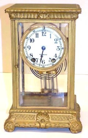 Seth Thomas Bronze Crystal Regulator Clock Seth Thomas