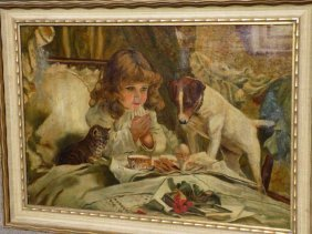 Charles Burton Barber - Suspense Painting Charles