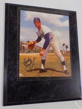Sandy Koufax Autographed 8 X 10 Photograph