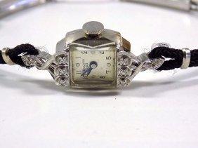 Art Nouveau 14k Gold Bulova Ladies Watch