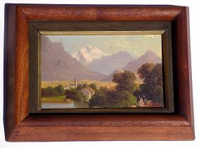 19th Century Town Landscape Painting