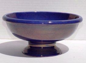 Moorcroft Purple Iridescent Footed Bowl