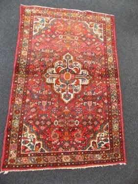 Antique Kerman Kirman Oriental Rug