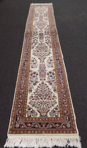 Oriental Kerman Kirman Long Runner Rug