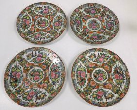 Chinese Ching Rose Medallion Plates