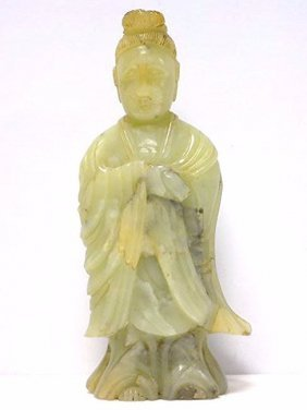 19th C. Chinese Carved Jade Quan Yin Figure