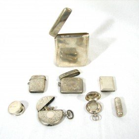 Sterling Silver Lot, Incl Hallmarks, 8 Pieces
