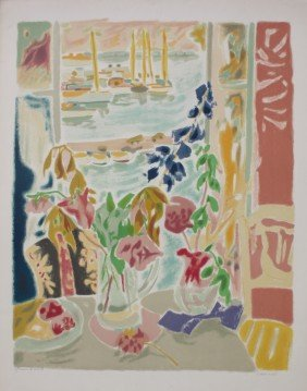 """Jules CAVAILLES (1901-1977)  """"Matin�e � Cannes"""" Li"""