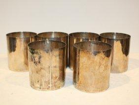 S�rie De Six Gobelets En Argent. P : 1 300 G