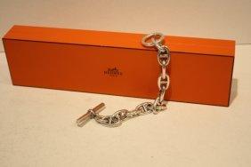 HERMES - Bracelet Form� De Maillons D'argent Entrel