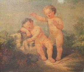 Ecole Fran�aise Du XVIIIe Si�cle. Deux Amours Jouan