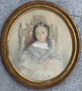 Philipp Veit (1793-1877) Portrait D'une Petite Fille