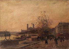 Eugne Galien-laloue (1854-1941) Scne De Vie