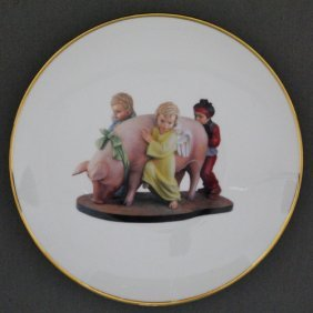 Jeff Koons (1955) Ushering In Banalty Assiette En