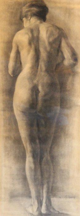 Jules Joseph Lefebvre (1836-1911) Nu Féminin De Dos Et
