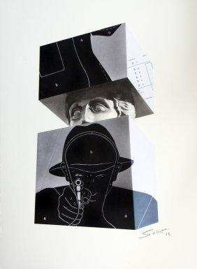 Sacha Sosno (1937-2013) Le Guetteur (la Cible) Collage