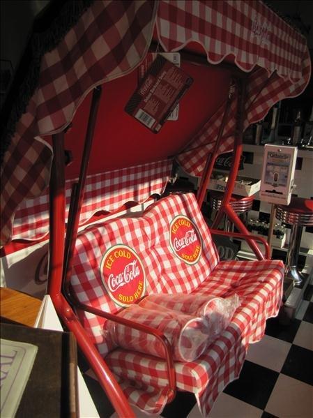 708 New Deluxe Coca Cola Patio Swing Lot 708