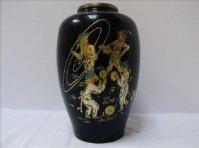 Korean Vase With Parade & Band Motif
