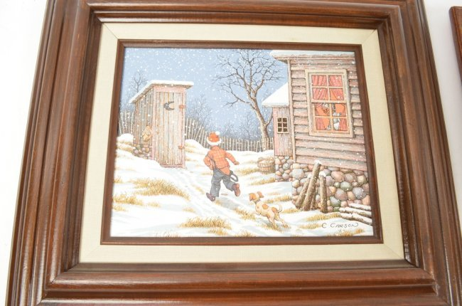 C Carson Amp H Hargrove Oil On Canvas Paintings Lot 181