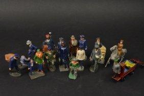 1930's Elastolin, Germany Figurines (15) Pcs.
