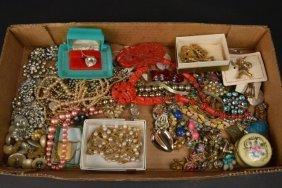 Large Lot Of Estate Vintage & Costume Jewelry