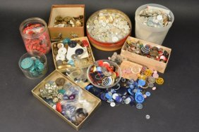 Large Lot Of Assorted Vintage & Newer Buttons