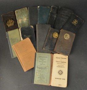 (14) 1900s Diaries, Memorandums, Notebooks, Etc.