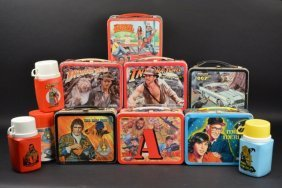 (7) 1980's Tv Shows & Movie Lunch Boxes