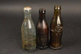 (3) Vintage Coca-cola 6.5 Oz. Bottles